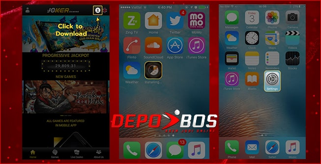 step download IOS joker777 pertama